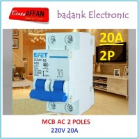 MCB AC C20 20A 220V 2P Circuit Breaker Solar PV Panel Surya PLTS
