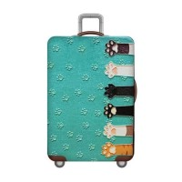 "Sarung Pelindung Koper Elastis Luggage Cover size S 18-20"" CAT PAW"