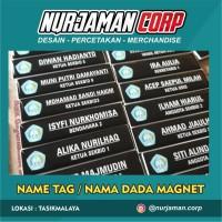 Name Tag / Nama Dada / Papan Nama Logo & Polos Murah FINISHING MAGNET