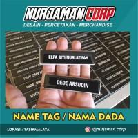 Name Tag / Nama Dada / Papan Nama Logo & Polos Murah FINISHING PENITI