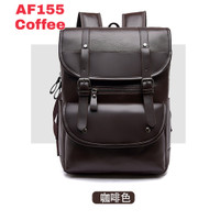 Tas Ransel kulit PU PRIA Backpack punggung import Kuliah Kerja 155 -