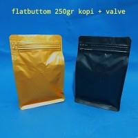 gusset flatbuttom dengan VALVE Ukuran 250gr kopi