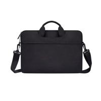 Tas Laptop 14 inch Macbook Softcase Jinjing Slempang Waterproof-Black