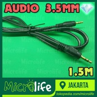 KABEL AUDIO STEREO 3.5MM EXTENSION 1.5M MALE to MALE TEKNOMINI 1.5M-TA