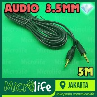 KABEL AUDIO AUX 3.5MM 5M TEKNOMINI HEADPHONE SPEAKER SMARTPHONE CABLE