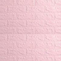 WALLPAPER 3D ZT0106 BRICK FOAM PINK WALLPAPER DINDING BATU BATA PINK