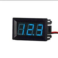 "Voltmeter 0.36"" 0.36 inch mini 2.5v - 30v blue biru + frame"