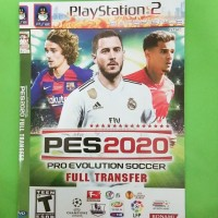 Kaset DVD Game PlayStation 2 Game Sepak bola - Pes 2020 Full transfer