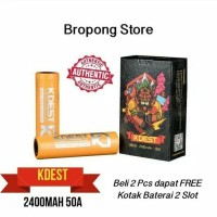 Authentic Battery Kdest 2400mAH 50A K6W 18650 Baterai
