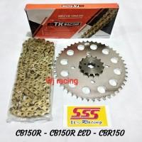 Gear Set SSS CB150R / CBR150 rantai GOLD TK Racing 428HS