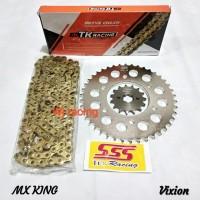 Gear Set SSS Vixion Old / New Vixion NVL NVA rantai TK Racing 428HS