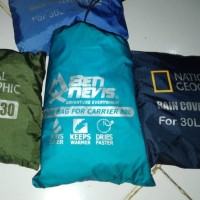Rain Cover, Cover Bag Carrier 80 L Sarung Tas Anti Hujan Tas MURAH..