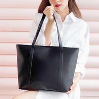 Tas Wanita Basic Tote Bag Sholderbag Simpel Santai Black Grey Polosan