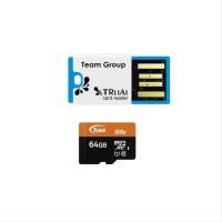 Team MicroSD UHS-1 64GB - Card Reader Speed 500x SXAZ110875