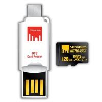 Strontium 128GB NITRO MicroSD with OTG Card Reader SXAZ112153