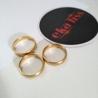 cincin titanium gold pria wanita xk30