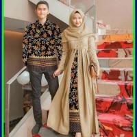 Ter Hot Batik Couple Baju Pesta Sarimbit Gamis Kebaya Couple Muslim