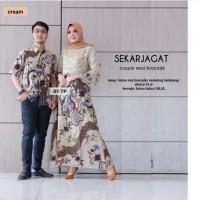 Terlaris Sarimbit Couple Gamis Pesta Broklat Batik Jagat Dan Kemeja