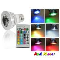 Lampu Bohlam Interior Lighting E27 Softbox LED RGB + Remote Control -