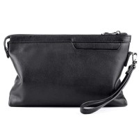 Hongu wallet Handbag Dompet Clutch tas tangan Pria Bahan Kulit hitam