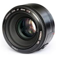 YONGNUO 50mm F1.8 Lens Fix Large Aperture AF MF Lensa F 1.8 For Mount