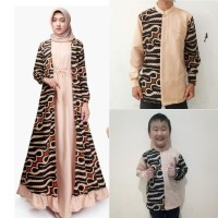 Couple Family FY Dress Muslim Wanita dan Kemeja Batik Ayah dan Anak