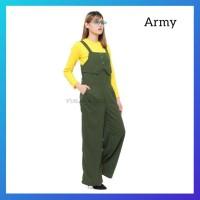 jumpsuit muslim wanita hijab overall baju kodok celana jumsuit army