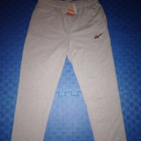 Original 100 % Celana Training Panjang Reebok Men Regular Cotton Grey