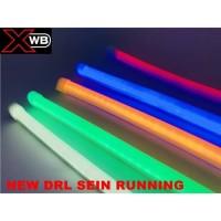 lampu led alis 30cm sein running drl fleksibel mobil motor grade a