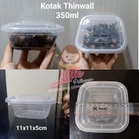(KHUSUS GOJEK) Kotak Thinwall 350ml/Kotak Plastik/Lunch Box Mini