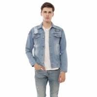 jaket jeans pria jaket levis premium warna biobliz biru muda