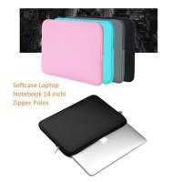 SCL02 Softcase Laptop Notebook 14 inchi Zipper Polos