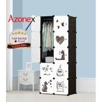 Lemari Plastik Pakaian Portable Baju Rak Serbaguna 10 Pintu Azonex