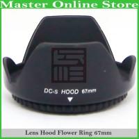Universal Lens Hood Flower 67mm Lensa Kamera Sony Canon Nikon 18-105mm