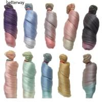 Rambut Palsu Model Panjang Keriting Alami Warna Gradasi U Boneka 1 / 3