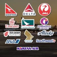 Stiker / Sticker Airline Set Program untuk Laptop, Mobil, Koper, dll