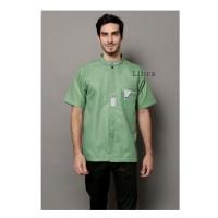 Baju Koko Pendek Green