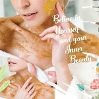 NPURE N'Pure Sugar Brightening Scrub honey - body scrub - lulur badan