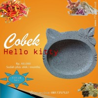 cobek hello kitty dari batu asli