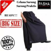 Promo bayar ditempat COD Sarung Celana Jumbo Hitam Polos - Celana Saru
