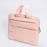 Tas Laptop Macbook Softcase Sleeve Handstrap PU Leather 13 inch