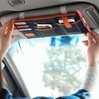 siap kirim Sun visor car organizer mobil simpan hp tiket karcis tol