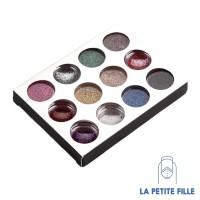 nail art: accesorries - glitter powder dust (12 colours/set)