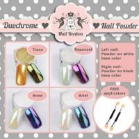 duochrome nail powder, unicorn powder, bubuk unicorn, nail powder