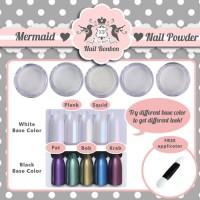 mermaid nail powder, bubuk mermaid