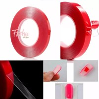 perekat transparant / double glue nail tip / double tape transparant
