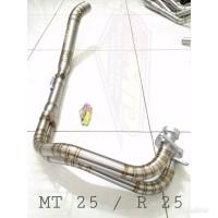Pipa leher knalpot MT 25 - R 25 Header knalpot stainlis MT 25 - R 25