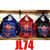 JL74 jaket anak laki laki sweter anak laki laki motif spaidermen