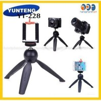Tripod Mini Yunteng Yt228 + Holder U / Tripod Selfie Yt 228