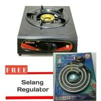 kompor gas 1 tungku 1 set paket selang regulator SNI